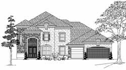 Mediterranean Style Home Design Plan: 62-389