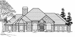 Traditional Style Home Design Plan: 62-391