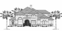 Mediterranean Style Home Design Plan: 62-396