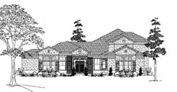 Mediterranean Style House Plans Plan: 62-398