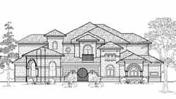Mediterranean Style House Plans Plan: 62-406