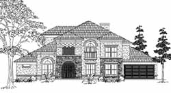 Mediterranean Style House Plans Plan: 62-410