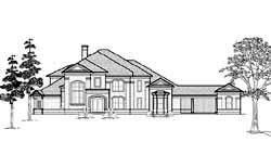 Traditional Style Home Design Plan: 62-414