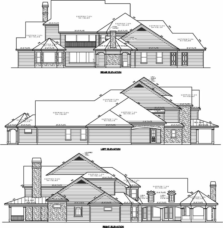 Rear Elevations Plan:62-429