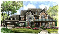 Country Style Floor Plans 62-429
