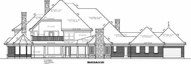 Rear Elevation Plan: 62-431