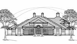 Mediterranean Style House Plans Plan: 62-432