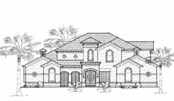 Spanish Style Floor Plans Plan: 62-433
