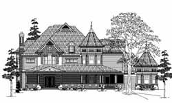 Victorian Style Floor Plans Plan: 62-435