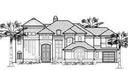 Mediterranean Style House Plans Plan: 62-442