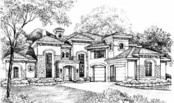 Mediterranean Style House Plans Plan: 62-444