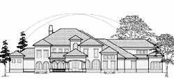 Mediterranean Style Home Design Plan: 62-447
