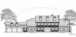 Southern-Colonial Style House Plans Plan: 62-457
