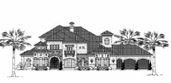 Spanish Style Home Design Plan: 62-460