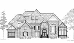 French-Country Style House Plans Plan: 62-464