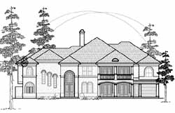 Mediterranean Style House Plans Plan: 62-466