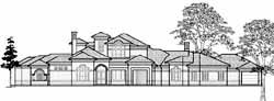 Mediterranean Style Home Design Plan: 62-470