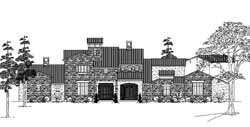 Tuscan Style Floor Plans Plan: 62-474