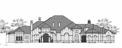 Spanish Style Home Design Plan: 62-478