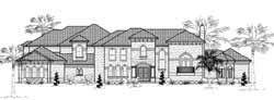 Mediterranean Style Home Design Plan: 62-483