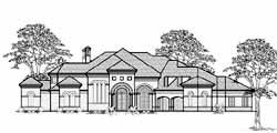 Mediterranean Style House Plans Plan: 62-484