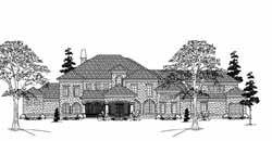 Spanish Style House Plans Plan: 62-486