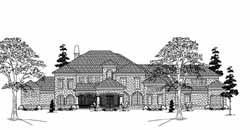 Spanish Style Home Design Plan: 62-486