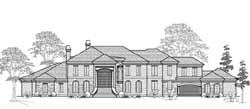 European Style House Plans Plan: 62-491