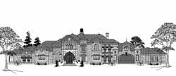 Spanish Style Home Design Plan: 62-496