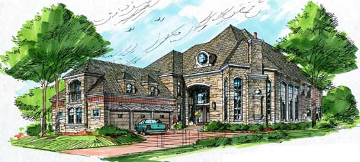 European Style House Plans Plan: 63-105
