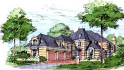 French-Country Style House Plans Plan: 63-106