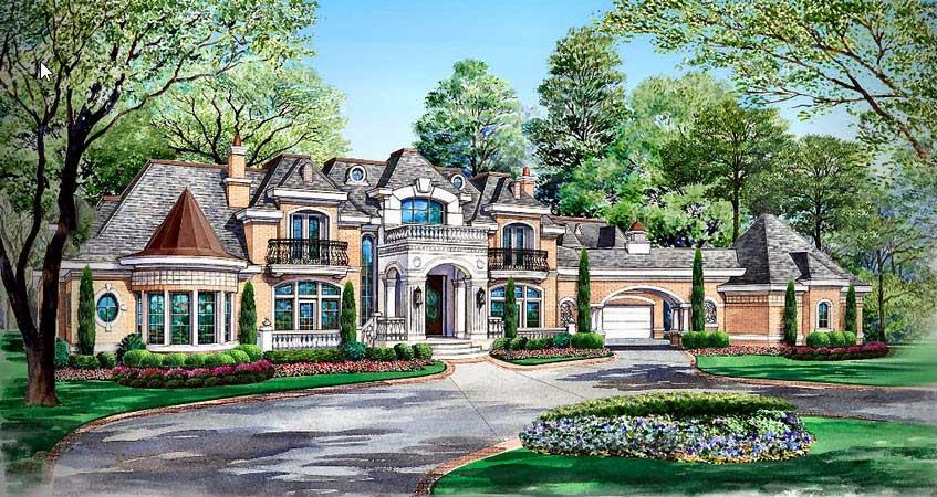 European Style House Plans Plan: 63-115