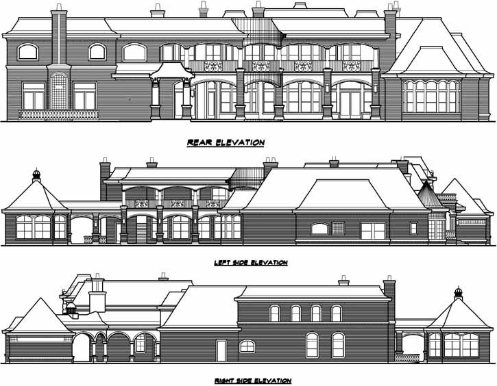 European House Plan - 7 Bedrooms, 7 Bath, 15079 Sq Ft Plan 63-115