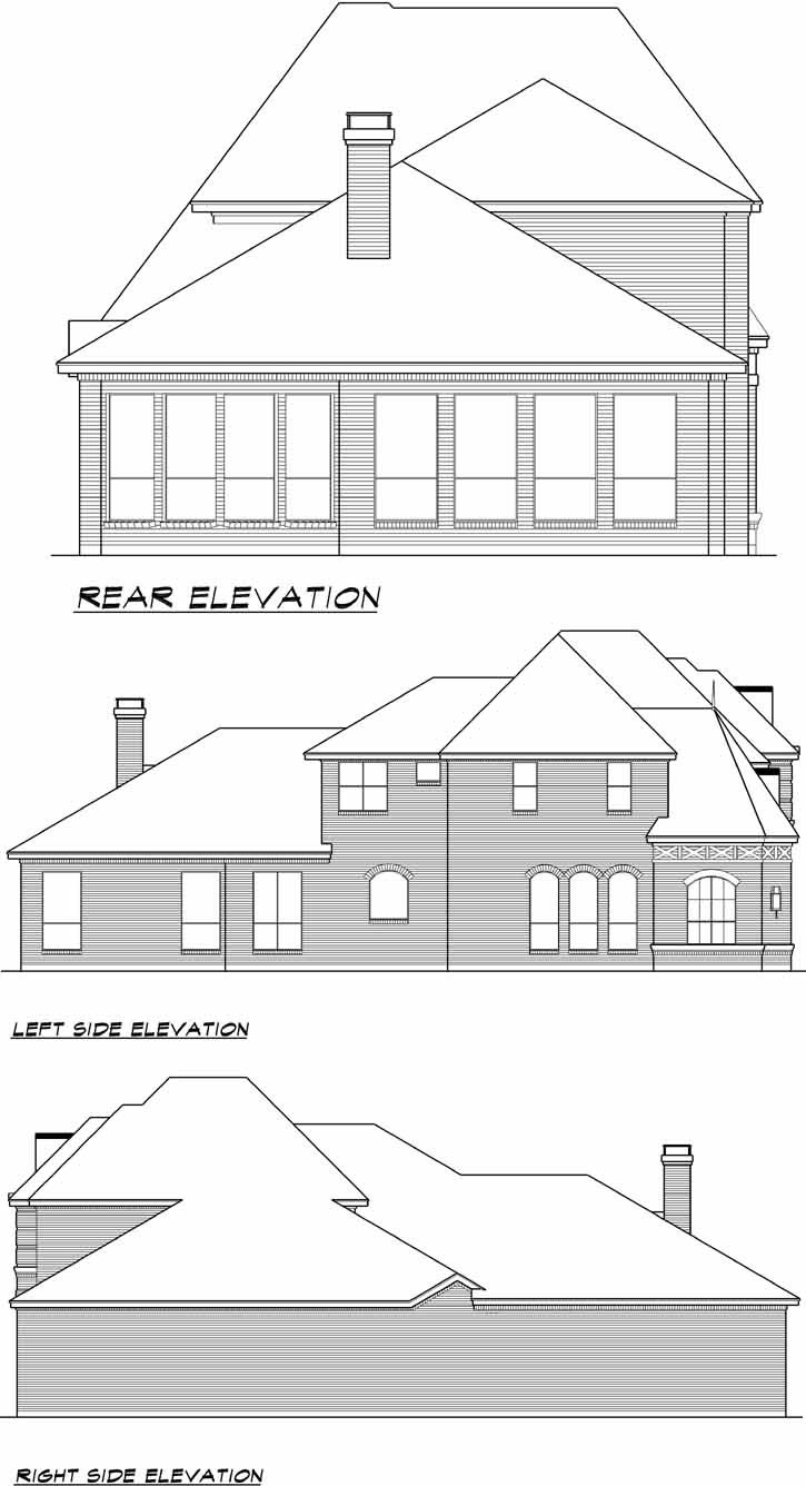 Rear Elevation Plan: 63-118