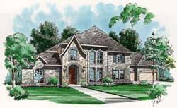 European Style House Plans Plan: 63-119