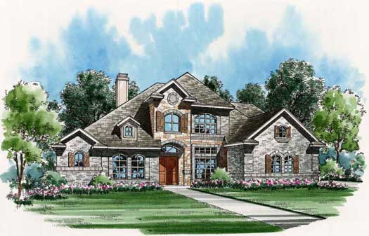 European Style House Plans Plan: 63-132