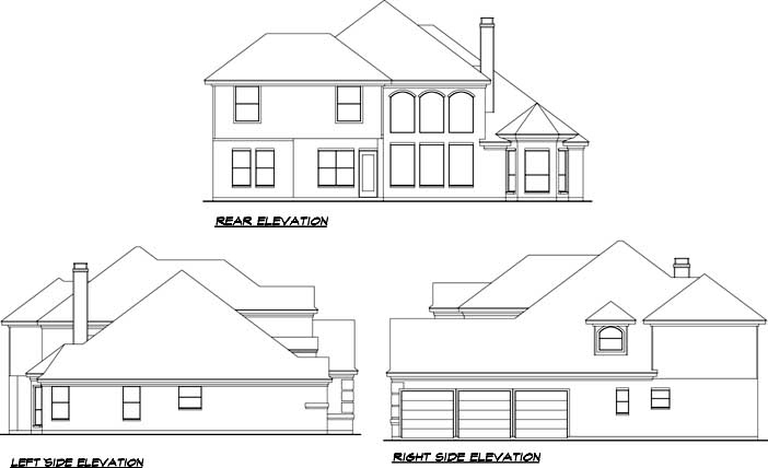 Rear Elevation Plan: 63-132