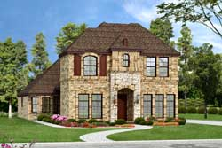 European Style Home Design Plan: 63-150