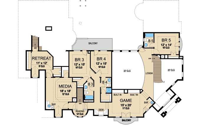 Upper/Second Floor Plan: 63-153