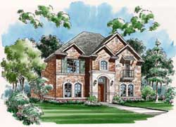 European Style Home Design Plan: 63-169
