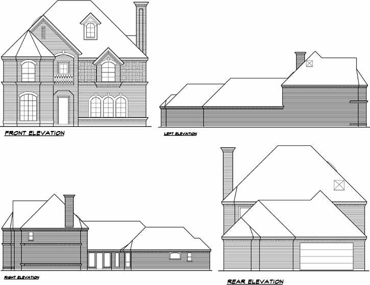 Rear Elevation Plan: 63-176