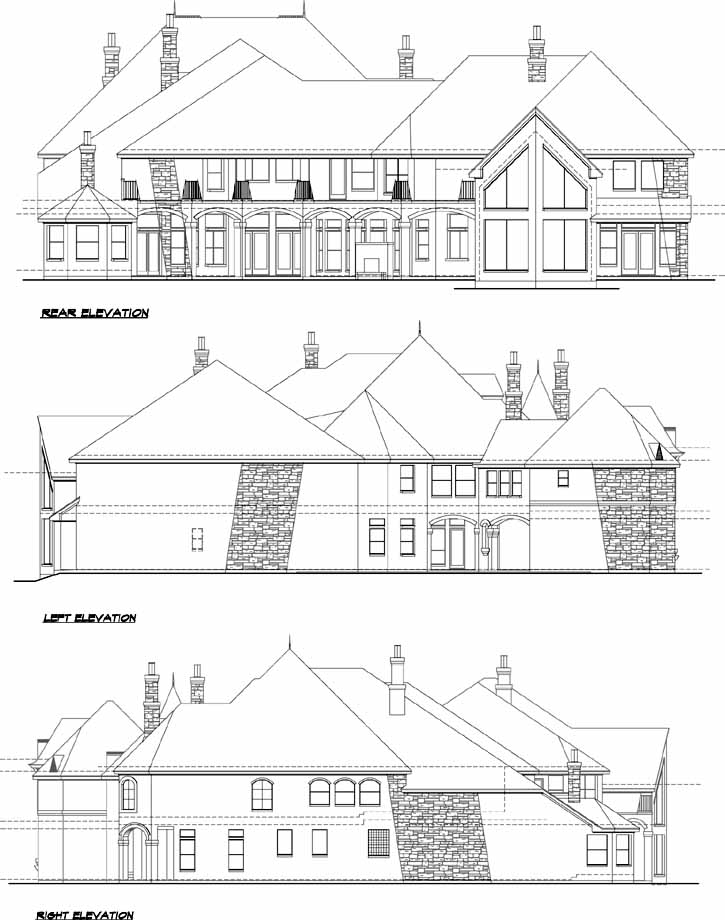 Rear Elevation Plan: 63-178