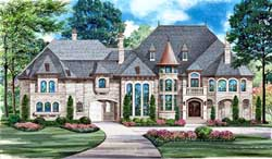 Mediterranean Style Floor Plans Plan: 63-178
