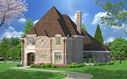 European Style Floor Plans Plan: 63-183