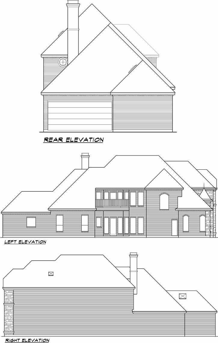 Rear Elevation Plan: 63-185