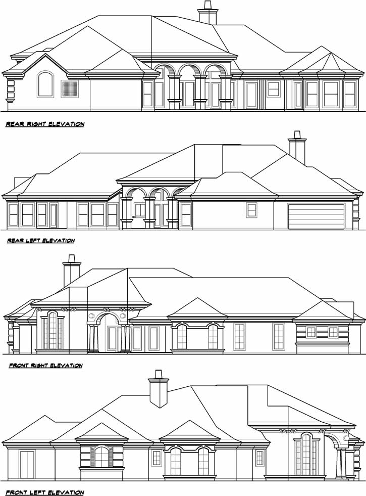 Rear Elevation Plan: 63-187