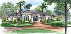 Mediterranean Style Home Design Plan: 63-187