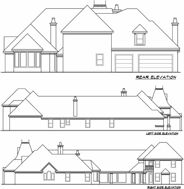Rear Elevation Plan: 63-193