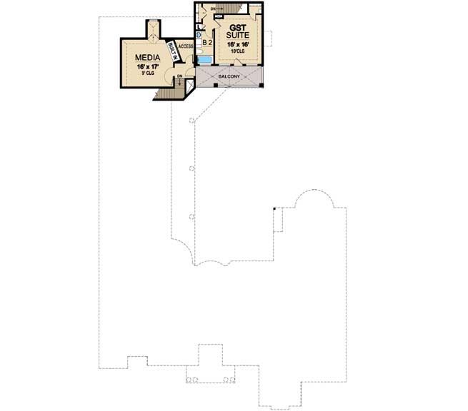 Upper/Second Floor Plan: 63-193