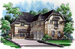European Style House Plans Plan: 63-198